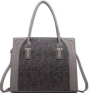 Dariela Weave Large Structure Tote - Gray